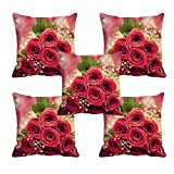 meSleep Rose 3D Cushion Cover (16X16) Set of 5