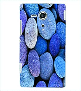 PRINTSWAG STONES Designer Back Cover Case for SONY XPERIA SP