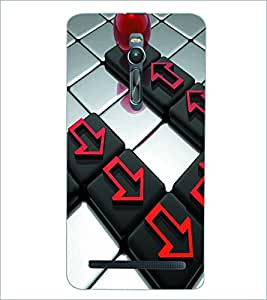 PRINTSWAG BUTTONS Designer Back Cover Case for ASUS ZENFONE 2