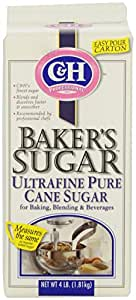 C&H Sugar Baker's Sugar, Pure Cane Ultrafine, 4 Pounds