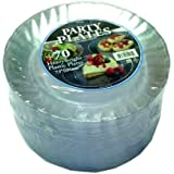 WNA Cut Crystal Heavyweight Clear Plastic 7.5 in. Party Plates 70 ct.