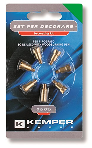 Kemper 1505 Items Essential Accessories Bundle Kit for Trim Work by Pyrography Device by Kemper