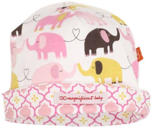 Magnificent Baby Baby-Girls Newborn Reversible Cozy Cap, Elephant/Marrakesh, One Size