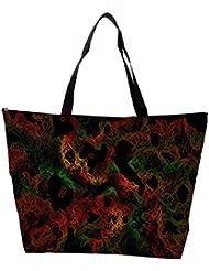 Snoogg Colorful Shades Abstract Designer Waterproof Bag Made Of High Strength Nylon