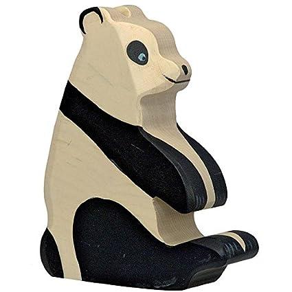 Animal Panda Jouet en bois d'érable Eco Fabriquer Main en Europe Holztiger