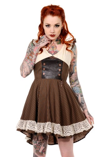 Banned Steampunk Dress UK 12-14 / EU 40-42