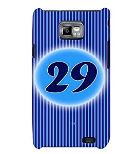Fuson 3D Printed Numerology Designer back case cover for Samsung Galaxy S2 - D4250