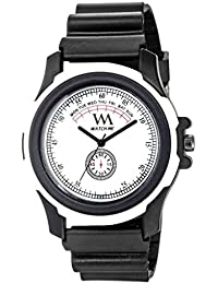 Watch Me White Dial Black Sports Strap Sports Watch-White For Men And Boys -216twm