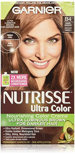 Garnier Nutrisse Ultra Color Nourishing Color Creme, B4 Caramel Chocolate (Chocolate Color Hair Dye compare prices)