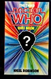 Nigel Robinson Third Doctor Who Quiz Book