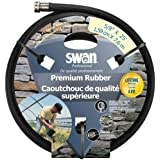 Swan Premium Rubber SNCPM58025 Heavy Duty 5/8-Inch By 25-Foot Black Water Hose