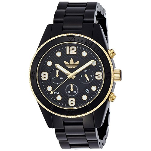 Adidas Homme & Femme 44mm Chronographe Noir Résine Bracelet Date Montre ADH2948