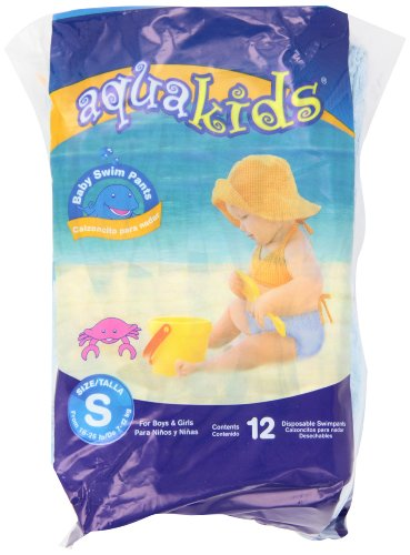 AquaKids Swim Pants for Boys & Girls, Small Size, 16-26 Pounds, 96-Count Swim Pants)