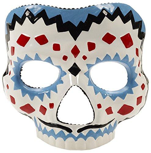 [Men's Day Of The Dead Male Mask] (Dia De Los Muertos Mariachi Costume)