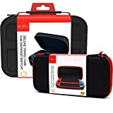 VORI Portable Nintendo Switch Game Traveler Deluxe Travel Case with Protective Hard Shell Pouch for Nintendo Switch Console & Accessories, Black ( Pack of 2 )