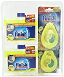 Finish Dishwasher Freshener and Cleaner Clam Pack
