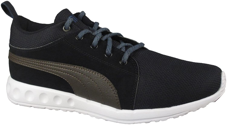 Puma Men's Carson Runner Mid Nubuck Running Shoes Black/Demitasse Brown/Blue D(M) US цена 2017