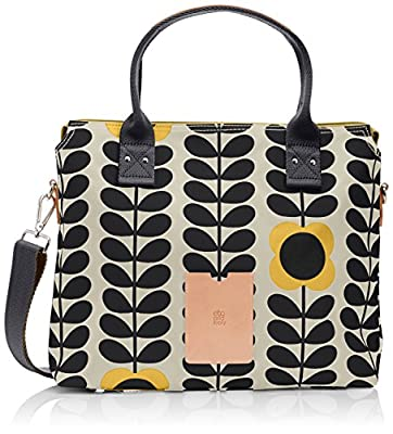Orla Kiely Matt Laminated Zip Messenger Bag