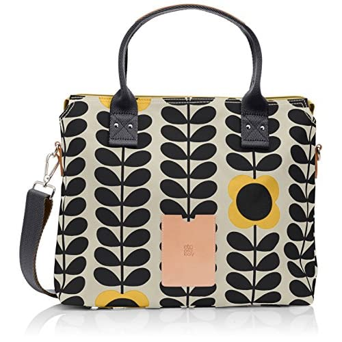Orla Kiely Women's Tall Flower Stem Zip Messenger Shoulder Bag