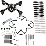 AVAWO for Hubsan X4 H107L 8-in-1 Quadcopter Black/White Spare Parts Crash Pack (As shown)