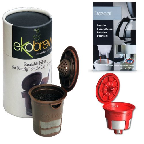Ekobrew Cup, Refillable K-Cup For Keurig K-Cup Brewers, Bundle - Includes Solofill Reusable K ...