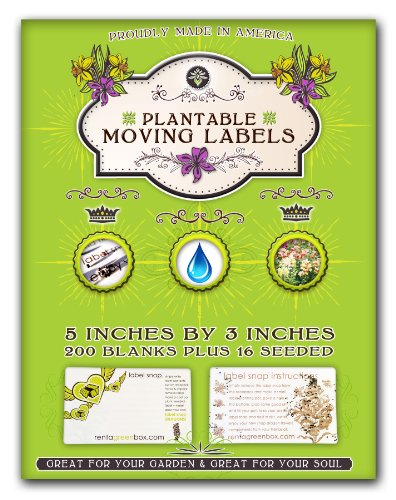 200 Extra Large, Removable And Easy To Read Moving Labels. Eco Friendly, Bio Degradable And You Can Plant These Labels To Grow Flowers After Your Move. Kids, Friends And Family Members Love Helping You Pack And Move With These Labels. Another Zero Waste M front-1027371