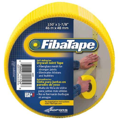 Saint-Gobain ADFORS FDW6415-U FibaTape Drywall Joint Tape, 1-7/8-Inch x 150-Feet, Yellow