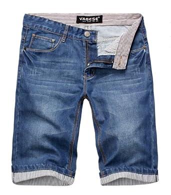 Wantdo Men Plus Size Summer Fashion Casual Denim Shorts 2219 by summer men