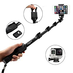 Extendable Selfie Stick Monopod With Bluetooth Remote Shutter For Phone Camera