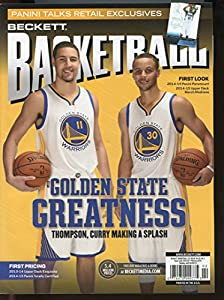 2015 February Current Beckett Basketball Card Monthly Price Guide Magazine Golden State Greatness Thompson , Curry Making a Splash Cover Issue 074470999775