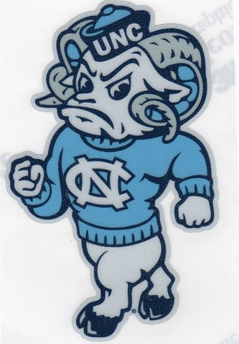 "North Carolina Tarheels REFLECTIVE MASCOT 6"" Vinyl Decal Car Truck Sticker at Amazon.com"