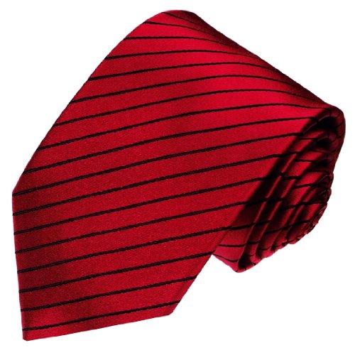 lorenzo-cana-marques-cravates-en-soie-100-jacquard-tisse-rouge-noir-a-rayures-84280-maison-pour-rong