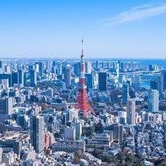 【日本の風景ポストカード】東京の俯瞰図 東京タワーを中心とする都市の葉書はがきハガキ☆