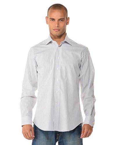 Camicissima Camicia Slim Fit Righe [Bianco/Grigio]