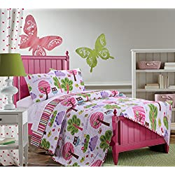 Greenland Home 3 Piece Woodland Girl Quilt Set, Full/Queen