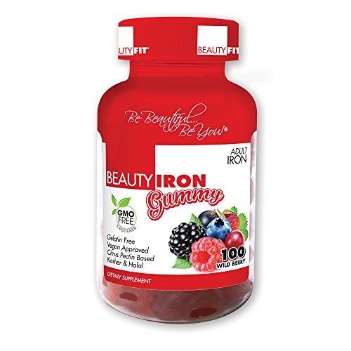 BeautyFit BeautyIron Vitamin, Iron Supplement for Women, 100 Delicious Gummies, Vegan Approved, Gluten Free (Iron Supplement For Women compare prices)