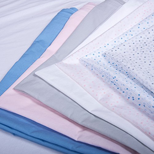 Quickzip Crib Extra Zip On Sheet 100 Cotton Gray Dot