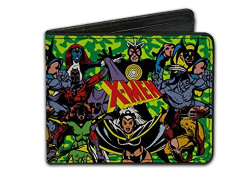 Marvel X-Men Characters Camo Bi-Fold Wallet