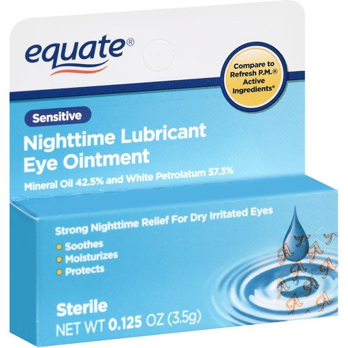 Equate Nighttime Lubricant Eye Ointment Sensitive, Compare to Refresh P.M. compare cheap
