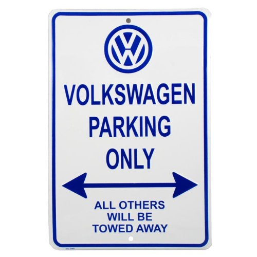 vw-parking-only-sign