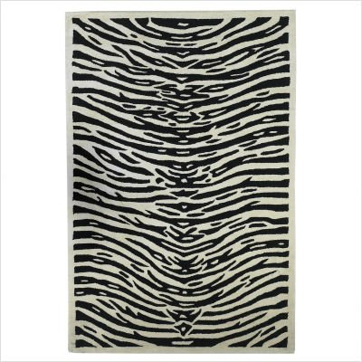 Sahara Ivory / Black Zebra Print Novelty Rug Size: 8' x 10' Rectangle