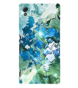 ARTICTIC CANVAS PAINTED DESIGN PATTERN 3D Hard Polycarbonate Designer Back Case Cover for Sony Xperia Z4 :: Sony Xperia Z4 E6553