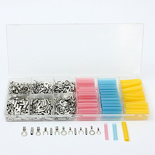 soloop-530-crimp-wire-terminal-connectors-135-insulated-heat-shrink-tubing-assorted-set-box