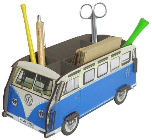 Werkhaus Stiftebox Stifteköcher VW Bus Bulli blau T1