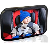 Kittens® New Arrival - Baby Car Mirror XL - Strong Safe Material & straps , Crash Tested - 30% Larger View & Depth for Back Seat Rear Facing - Great Baby Shower Gift For Newborn -LifeTime Satisfaction