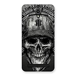 Gorgeous Grey Skull Terr Back Case Cover for Zenfone Go