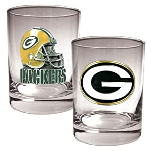 Green Bay Packers NFL 2pc Rocks Glass Set by Great American Products