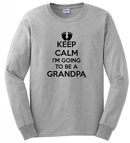 Keep Calm I'M Going To Be A Grandpa Long Sleeve T-Shirt Medium Ash front-710830