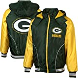 NFL Green Bay Packers Touchdown Full Zip Hooded Jacket - Green/Gold (X-Large) Amazon.com
