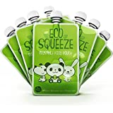 Pack of 8 Reusable Baby Food Pouches. Extra Wide Opening for Easy Filling & Special Dual Zipper Prevents All Leaks. BPA and PVC Free & Comes With 120 Dis-solvable Labels for Marking Content.